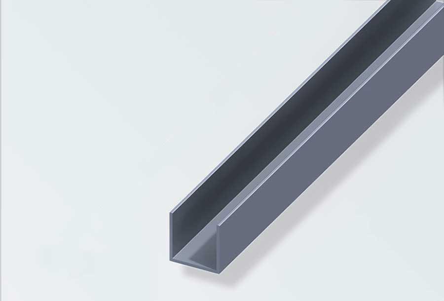 u profil 20x20 mm alu blank 2 m. Black Bedroom Furniture Sets. Home Design Ideas